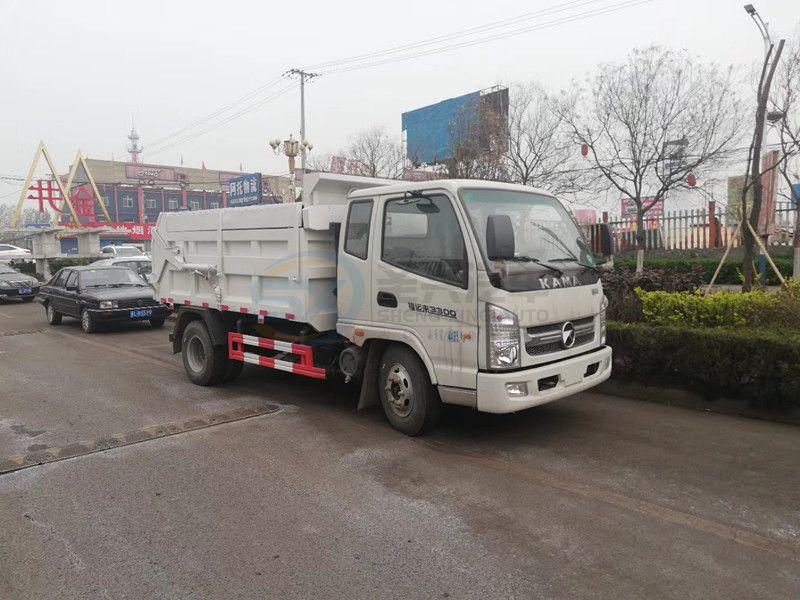 凯马密封式自卸建筑垃圾车(选装翼展盖)