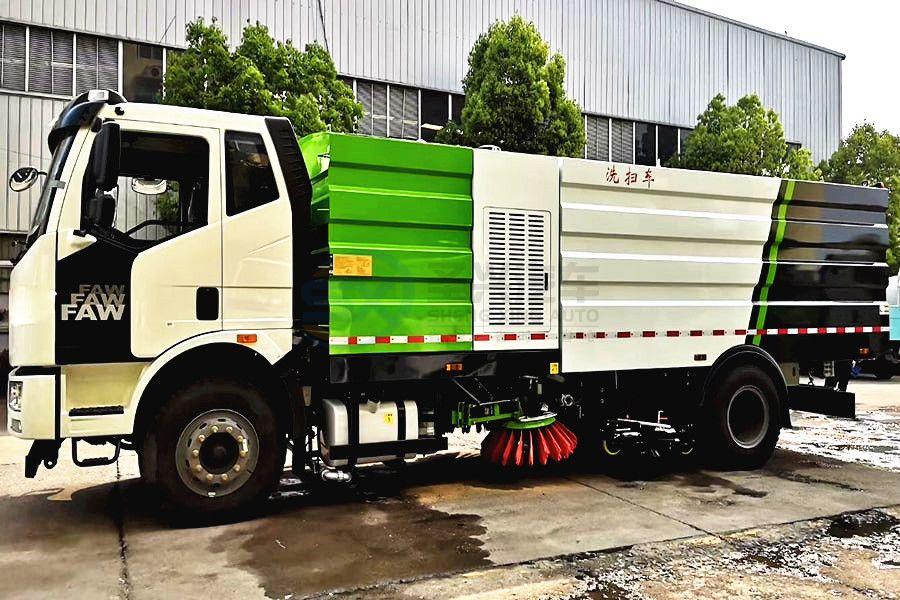 解放J6大型洗扫车