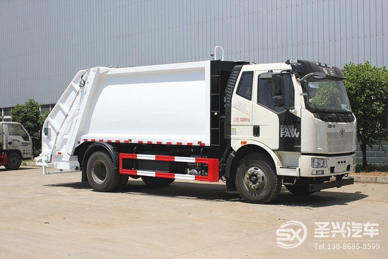 解放J6L后装12方压缩式垃圾车
