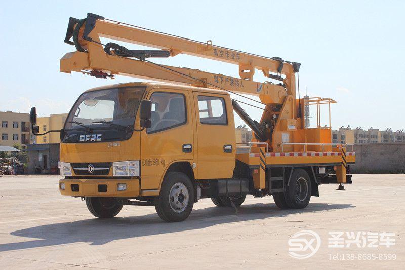 东风多利卡双排座16米高空作业车
