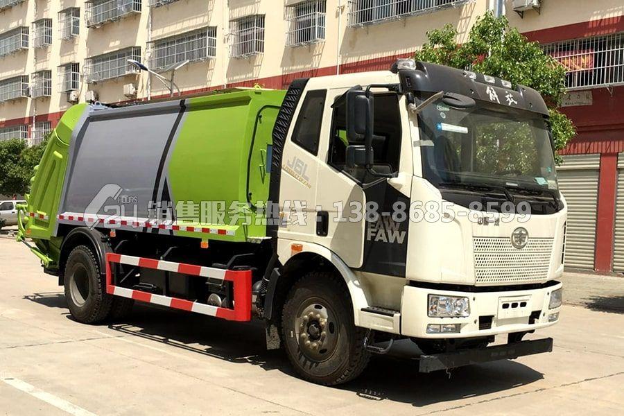 国六解放J6L后装14方压缩式垃圾车