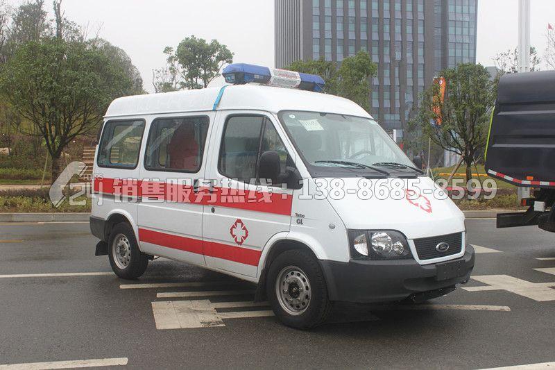 全顺新世代V348短轴中顶监护型救护车