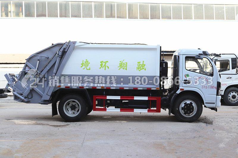 国六东风福瑞卡8方压缩垃圾车