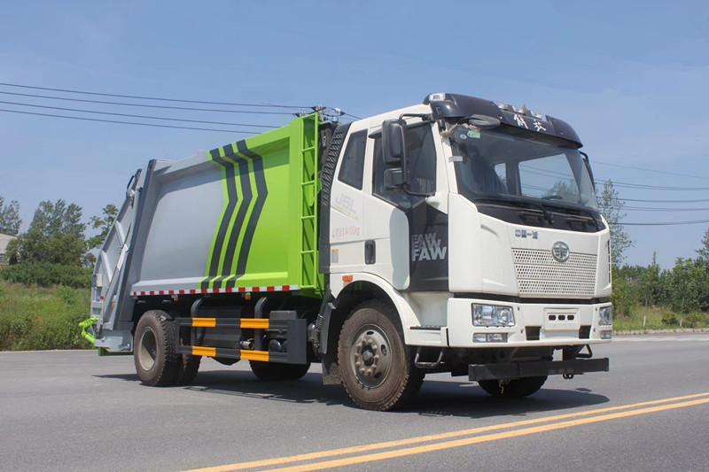 国六-解放J6L后装14方压缩式垃圾车