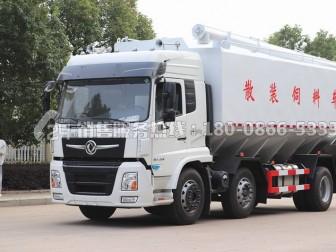 公司最具竞争力的产品—东风畅行D3V国六款三轴轻量化30方散装饲料运输车