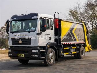 重汽汕德卡12-14方压缩式垃圾车现在购车减1万元